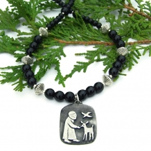 St. Francis necklace.