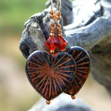 starburst heart earrings gift for women