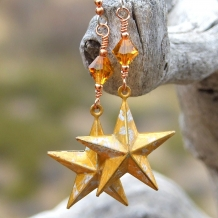Texas star earrings.