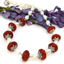 sherpa bead ethnic necklace for women