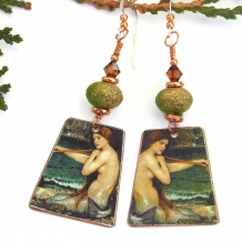 a mermaid john william waterhouse art jewelry