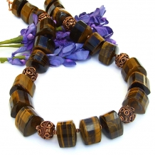 Tigers eye statement necklace.