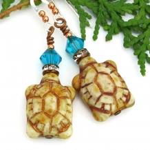 turtle earrings gift for women