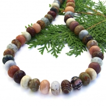 Mixed gemstone necklace.
