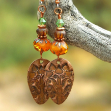 tree of life handmade jewelry gift for her earrings