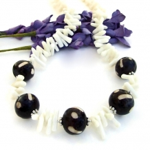 Tribal boho necklace.