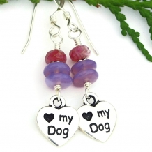 love my dog earrings for women
