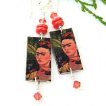 unique frida kahlo earrings