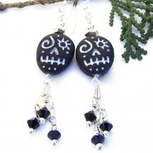 voodoo skull earrings