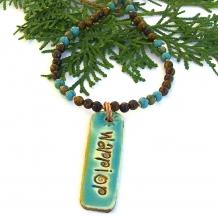 Warrior pendant necklace.