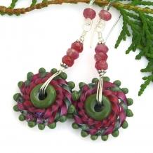 Handmade boho earrings for her