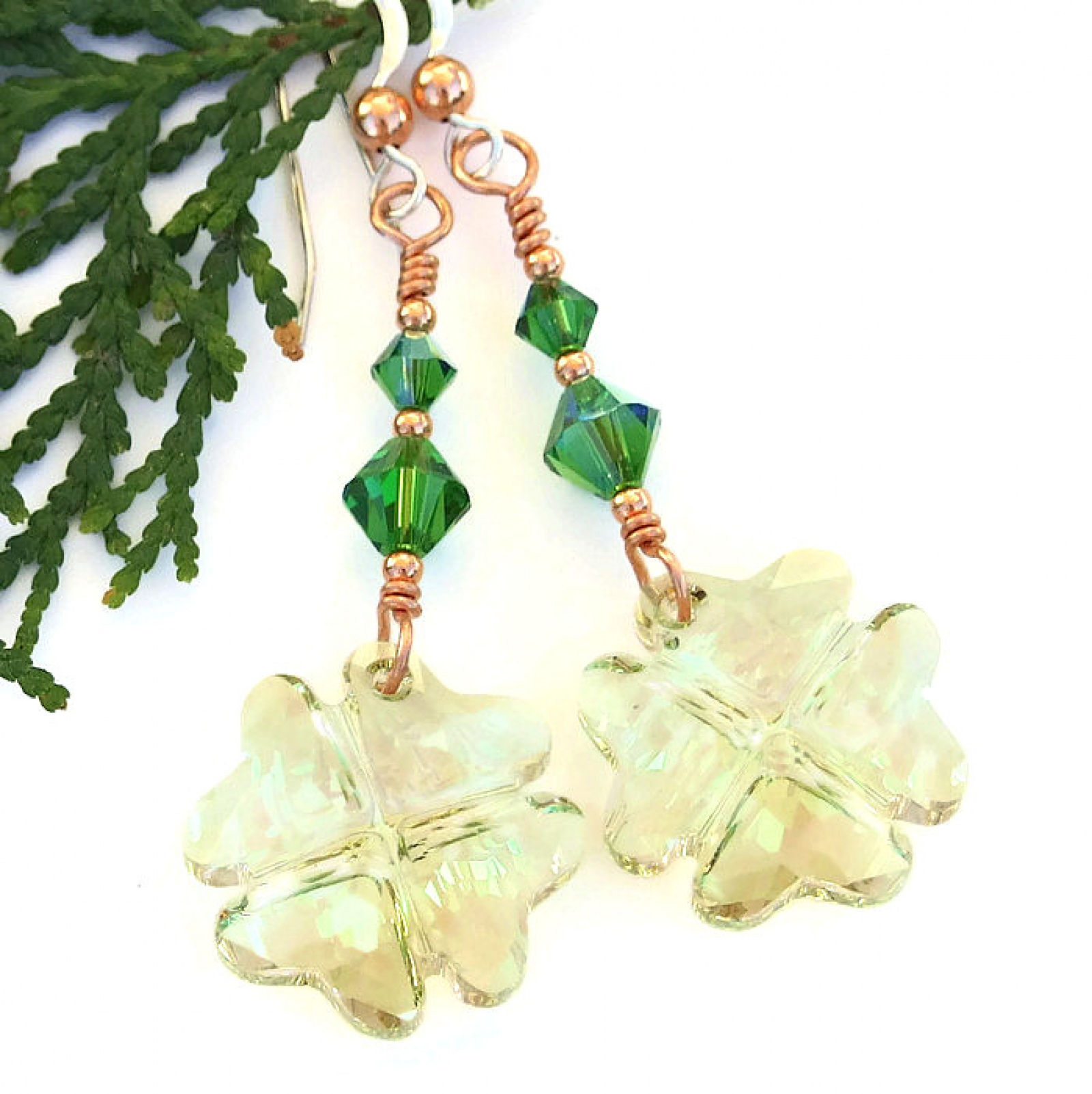 8323b76b94522d st patricks day four leaf clover earrings ...