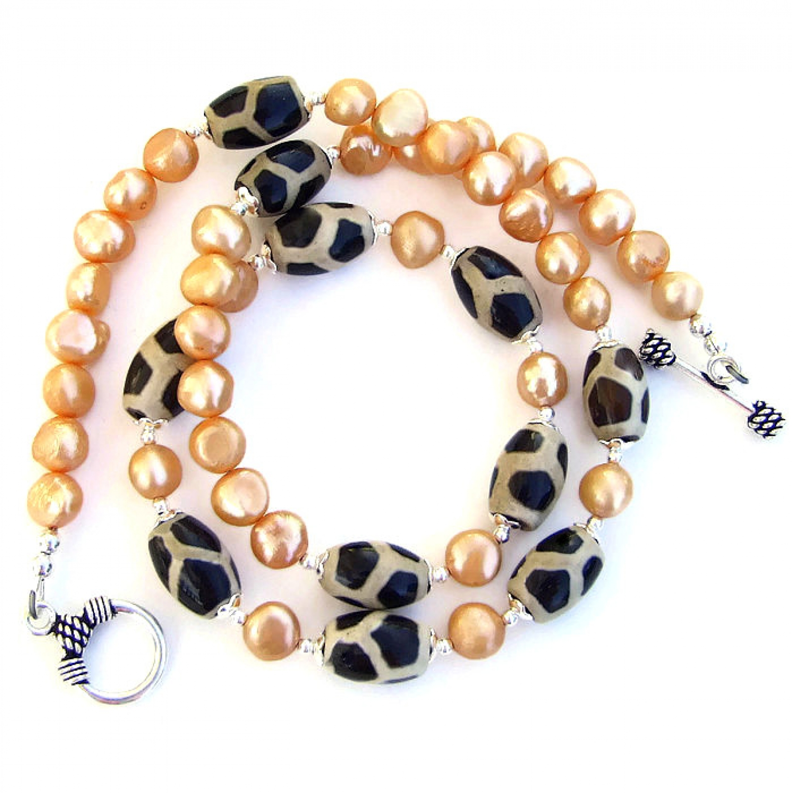pins swarovski hair pearls orange peach pearl