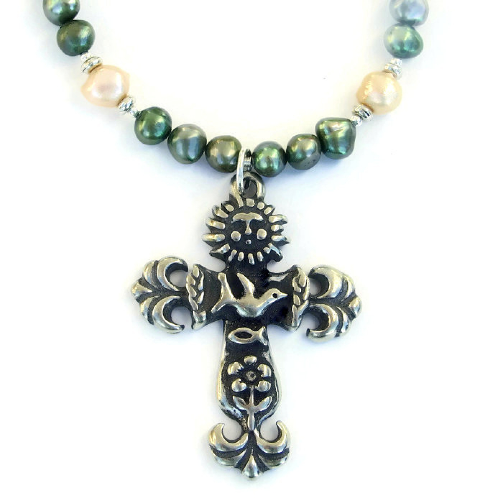 christian designs jewelry earth cross necklace sun dove flower ichthys christian 6325