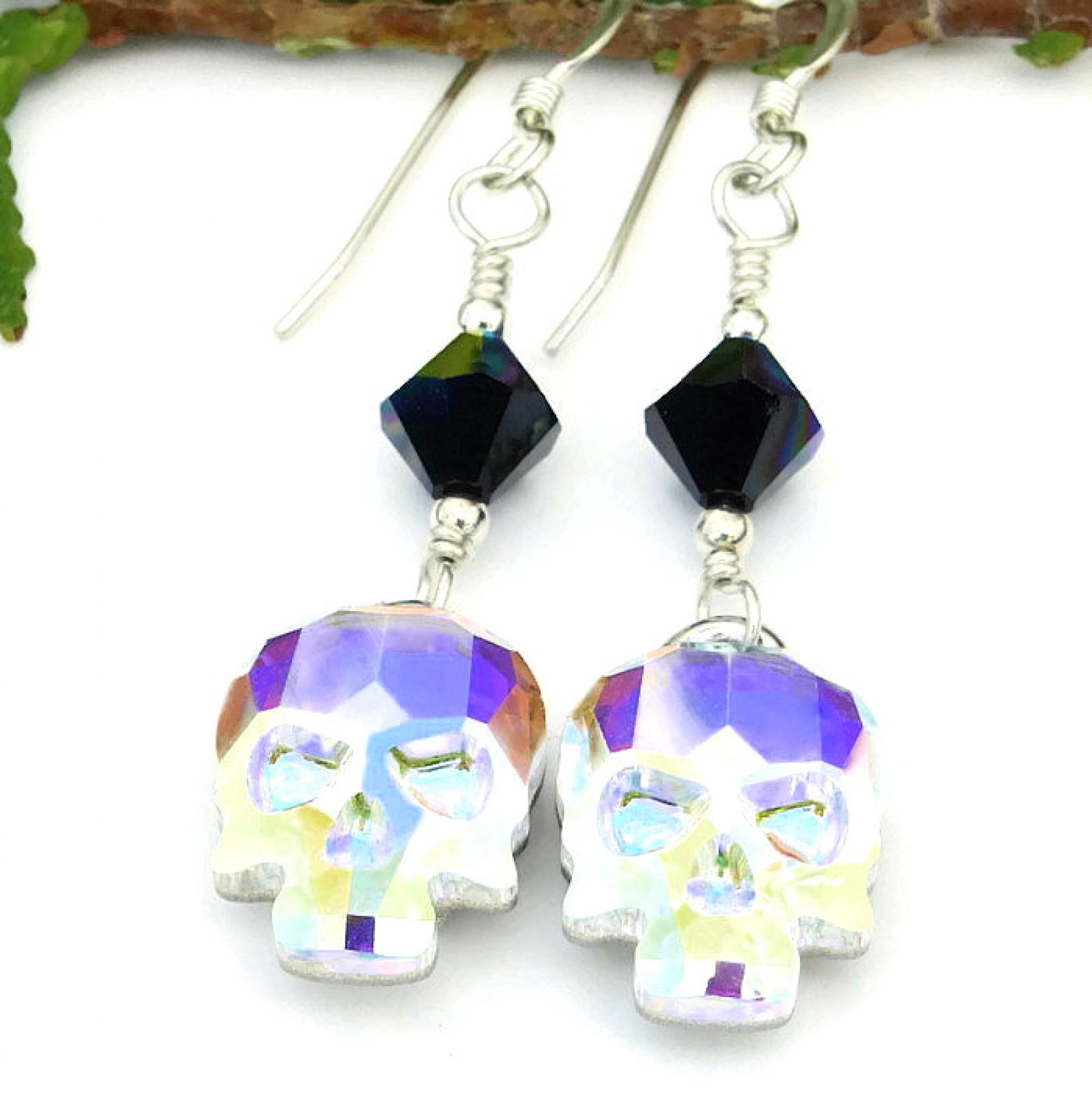 Skull Earrings Day Of The Dead For Women