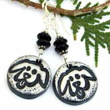 SOLD - Artisan Handmade Dog Rescue Jewelry - Shadow Dog Designs