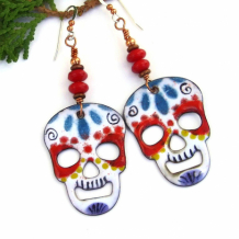 SOLD - Artisan Skull / Halloween Jewelry - Shadow Dog Designs