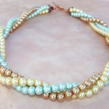 PEARL DECADENCE - Shell Pearl Multistrand Twisted Beaded Necklace Handmade  Jewelry