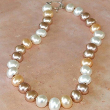 EREWHON - Hand-knotted 15mm Shell Pearl Sterling Silver Necklace