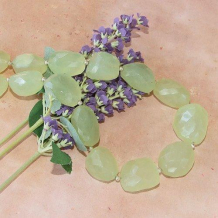 NEW SPRING GROWTH - Chunky Green Chalcedony Nuggets Sterling Handmade Necklace