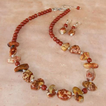 DREAMING OF WURRE - Earthy Birds Eye Jasper Red Jasper Sterling Handmade Necklace